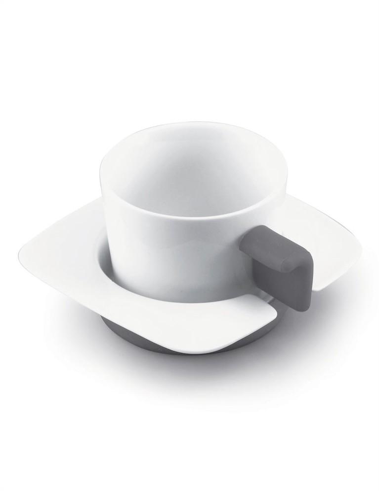 Coppia Tazze Cappuccio (bianco/grigio)